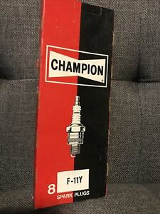 Champion Spark Plugs F 11y 8 Count Box New Nos