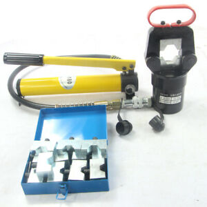 20ton Hydraulic Wire Terminal Crimper Crimping Tool Plier Cutter Set W Dies New