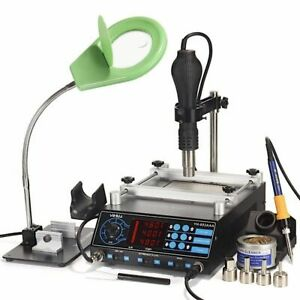 1200w Preheating Station With Heat Gun Soldering Iron Pcb Desoldering With Lamp