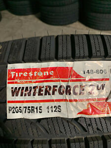2 New 265 75 15 Firestone Winterforce 2 Uv Snow Tires