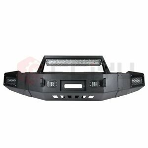 Front Steel Step Bumper For Chevy Silverado Sierra 1500 07 13 W Led Winch D Ring