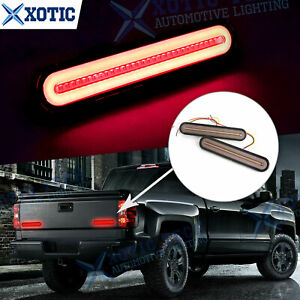 For Chevy Silverado Led Strobe Brake Flowing Turn Signal Rear Tailgate Light Bar