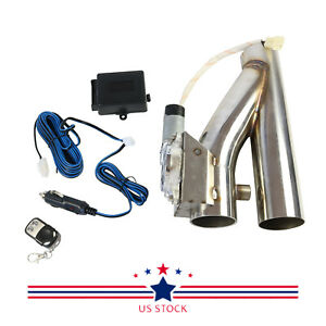 2 5 Electric Exhaust Downpipe Cutout E Cut Out Valve Kit With Controller Remote
