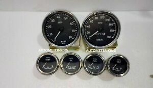 Smiths Replica Gauges Kit 100 Mm Mechanical Speedo Tacho 52 Mm Electrical Gauges