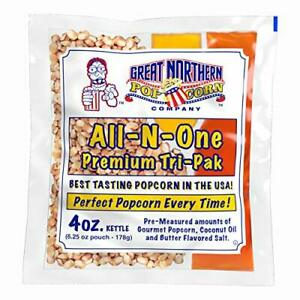 4066 Great Northern Popcorn 4 Ounce Premium Popcorn Portion Packs Case Of 12
