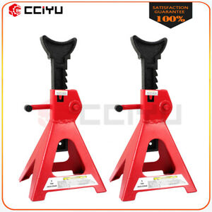 Pair Of Jack Stands 6 Ton 6000 Lb Heavy Duty Lift Support Adjustable Automotive
