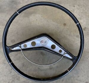 1959 1960 Chevrolet Steering Wheel Impala Black Convertible Lowrider Cholo