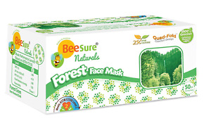Beesure By Cranberry Astm Level 2 Be2440 Naturals Forest Face Masks Green Floral
