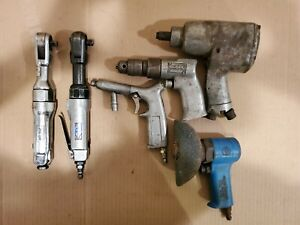 Lot Of 6 Pneumatic Air Tools Ratchet Impact Wrench Blue Point Hdc Cp Rodac