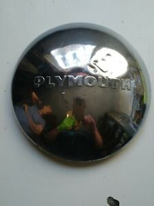 Vintage 1949 1950 Plymouth Dodge Belvedere Police Dog Dish Hubcaps Wheel Cover
