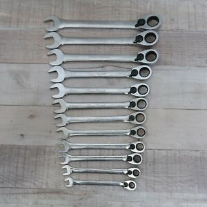 Blue Point Tools 12 Pc Metric 12 Pt Ratcheting Box Open End Wrench Set Boerm712