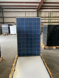 Pallet Of Used 250 Watt Canadian Solar snail Trail Panels free Shipping