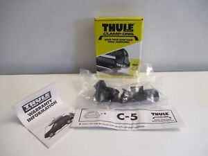 New Thule Clamp ons C 5 Roof Rack Cross Bar Adapters Brackets For Ski Rack Nos