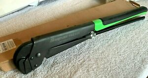 New Snap On Tools Large Pwz3 Plier Wrench Adjustable Green Pipe Cobra Jaw Pliers