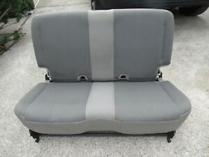 03 06 Jeep Wrangler Tj Gray Cloth Fabric Rear Seat Flip Fold Bench
