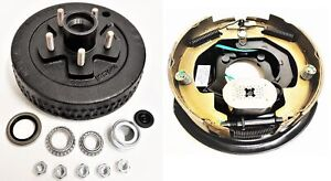 Electric Trailer Brake 10 Rh Self Adjusting Backing Plate Drum Kit 5 5