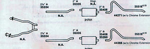 1970 Mustang Dual Exhaust System Aluminized Boss 302 Engines Only