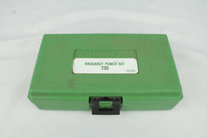 Greenlee 735 Standard Knockout Conduit Punch Set Complete