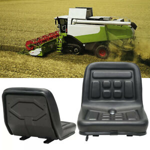 Slidable Tractor Seat With Drain Hole Water resistant Thick Pu Leather anti rust