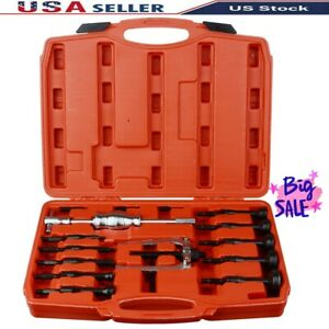 16pcs Bearing Extractor Set Inner Internal Blind Remover Bushes Puller Tool New