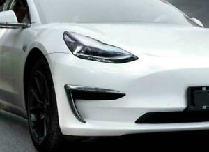 Fit Tesla Model 3 Front Fog Light Trim Eyebrow Cover Accessories Carbon Pattern