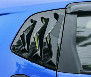 For Honda Fit 2014 2018 Abs Rear Side Window Quarter Louver Trim Glossy Black