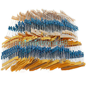 1100pcs 10x 110value 1 2w 1 Metal Film Resistor Assortment Kit 0 1 10 M