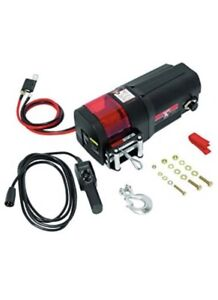 Bulldog 500402 Black Dc Electric Utility Winch 4500 Lbs W Rope And Remote New