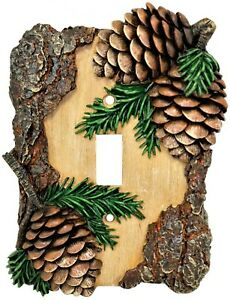 Whistling Pines Single Switch Cover Plate Cabin Lodge Style Home Décor $16.50