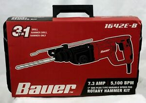 Bauer 1642e b Sds Pro 1 Variable Speed Corded Rotary Hammer Kit