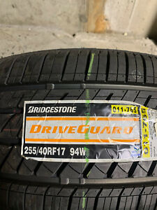 2 New 255 40 17 Bridgestone Drive Guard Run Flat Tires