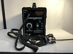Chicago Electric 90 Amp Flux Wire Welder 120v 68887 read parts Or Repair Only
