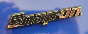 New Snap on Logo Tool Box Cart 3d Roll Cab Chrome Badge Emblem Decal 120mm 5