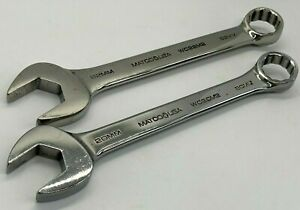 Matco Tools 20mm 22mm Metric Stubby Combination Wrench Set 12 point Lot Short