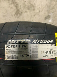 1 New 275 40 17 Nitto Nt555r Extreme Drag Tire