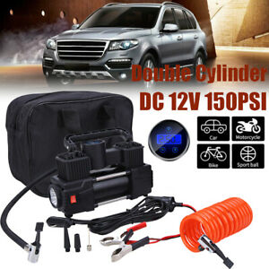Heavy Duty Portable 12v 1 Car Tire Inflator Pump Double Cylinder Air Compressor
