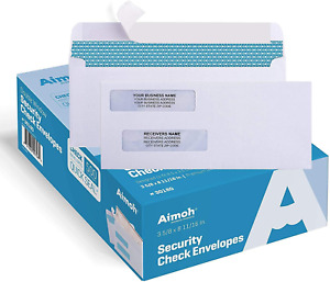 5008 Self Seal Double Window Security Check Envelopes Size 3 5 8 X 11 16 For