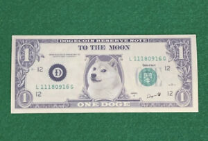 Doge Dollar Crypto Sticker Dogecoin To The Moon The Dogefather Elon Musk Meme