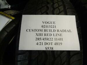 1 New Vogue Custom Build Radial Xiii Red Line 285 45 22 114h Tire 02113221 Q1
