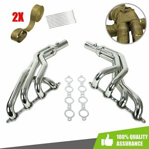 For Ford Mustang 1979 2004 Ls Engine Conversion Swap Long Tube Headers W wraps