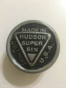 Vintage Hudson Super Six Aluminum Threaded Wheel Center Grease Cap Hub Cap