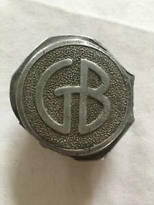 Vintage Gb Graham Brothers Aluminum Grease Cap Wood Wheel Center Cap Hubcap