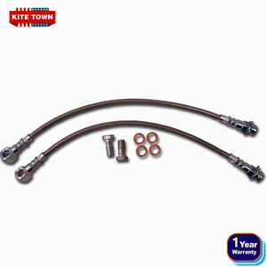 7 16 Braided Stainless Steel Disc Brake Hose For Chevelle Disc Brakes Gm 64 72