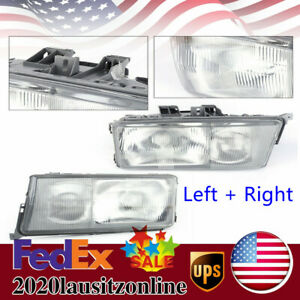 Fit For 84 94 Mercedes Benz W201 190e 190d Glass Headlights Left right With Fog