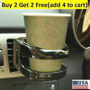 Black Car Accessories Drink Cup Holder Air Vent Clip Mount Water Bottle Stand Us