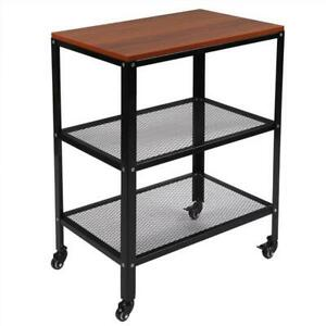 Baker s Rack 3 tier Kitchen Utility Microwave Oven Stand Storage Cart W wheels