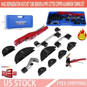 Hvac Refrigeration Ratchet Tube Bender pipe Cutter Copper Aluminum Tubing Set Us