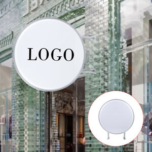 110v 20 Double Sided Outdoor Circular Illuminated Ledlight box Waterproof Sign