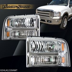 For 2005 2007 Ford F250 F350 F450 F550 Super Duty Headlights Left right 05 06 07