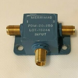 Merrimac Microwave Pdm 20 250 Rf Power Divider combiner 10 500 Mhz Sma